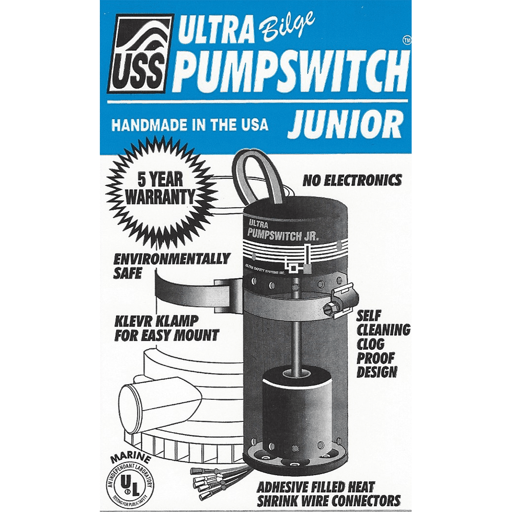 Pumpswitch JR. keep your boat afloat with ultra bilge pumpswitch